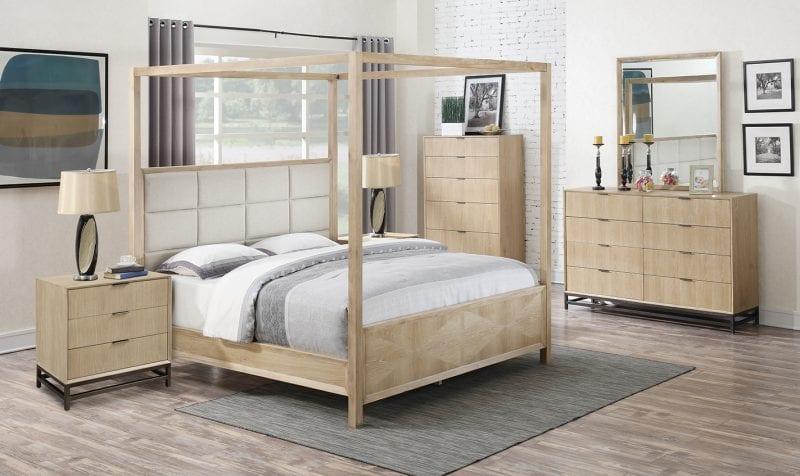 Aden Upholstered Canopy Bed Frame